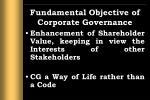 fundamental objective of corporate governance