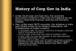 history of corp gov in india