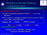 modelo de m ltiples componentes22