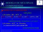 modelo de m ltiples componentes23