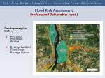 flood risk assessment products and deliverables cont