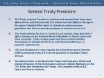 general treaty provisions