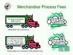 merchandise process fees