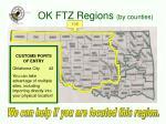 ok ftz regions by counties