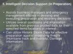 5 intelligent decision support in preparation