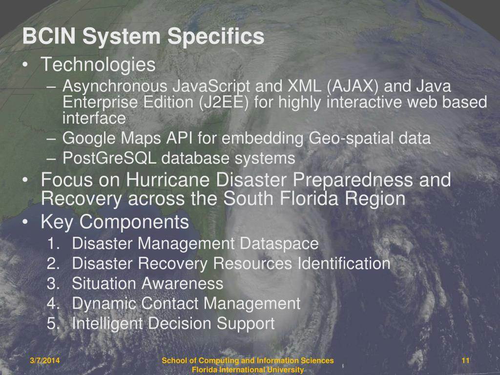 BCIN System Specifics