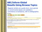 abi inform global results using browse topics14