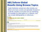 abi inform global results using browse topics16