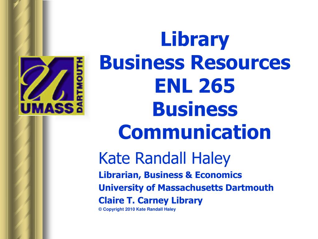 library business resources enl 265 business communication