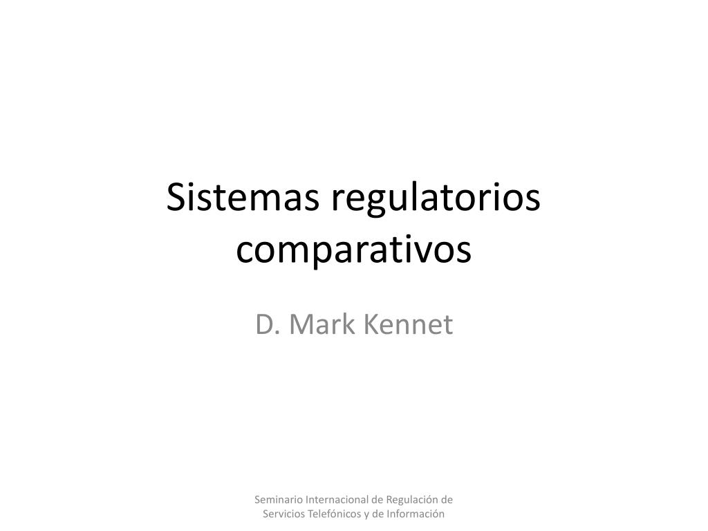 sistemas regulatorios comparativos l.