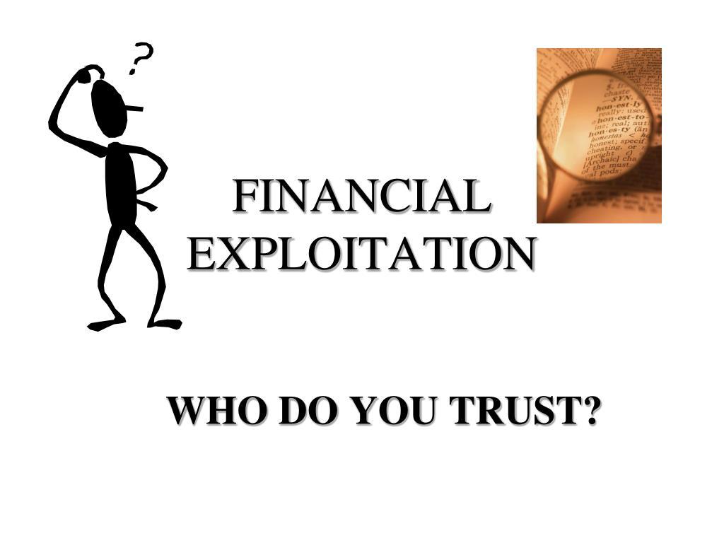 financial exploitation l.