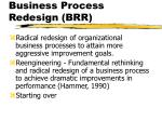 business process redesign brr