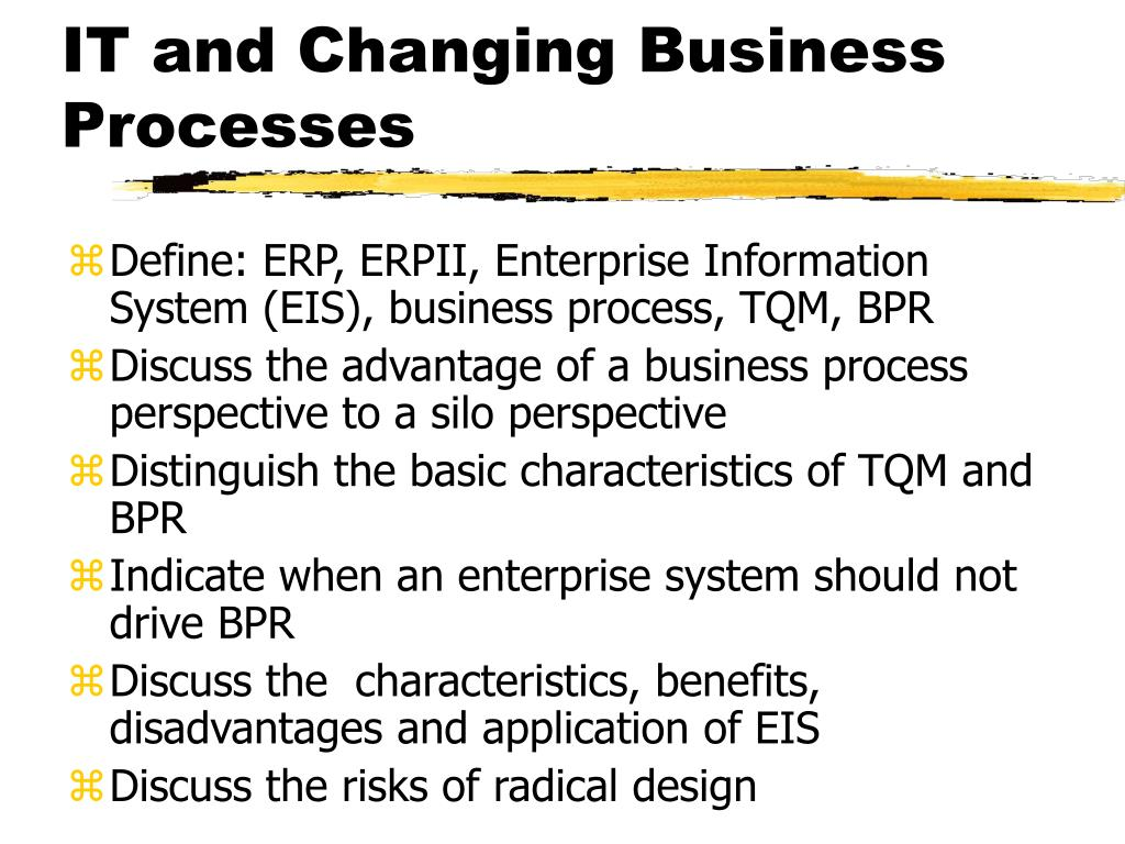 it and changing business processes l.