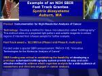 example of an nih sbir fast track grantee syntrix biosystems auburn wa