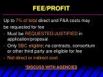 fee profit