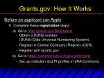 grants gov how it works