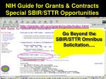 nih guide for grants contracts special sbir sttr opportunities