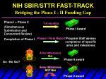 nih sbir sttr fast track bridging the phase i ii funding gap