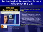 technological innovation occurs throughout the u s