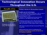 technological innovation occurs throughout the u s74