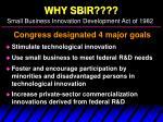 why sbir