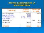 costos laborales de la microempresa20