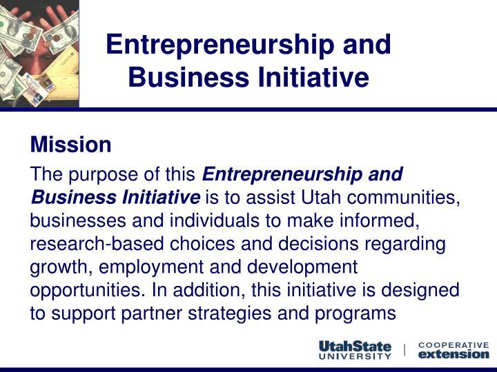 Entrepreneurship and business initiative