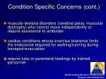 condition specific concerns cont7