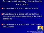 schools addressing chronic health care needs