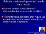 schools addressing mental health care needs