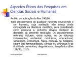 aspectos ticos das pesquisas em ci ncias sociais e humanas7