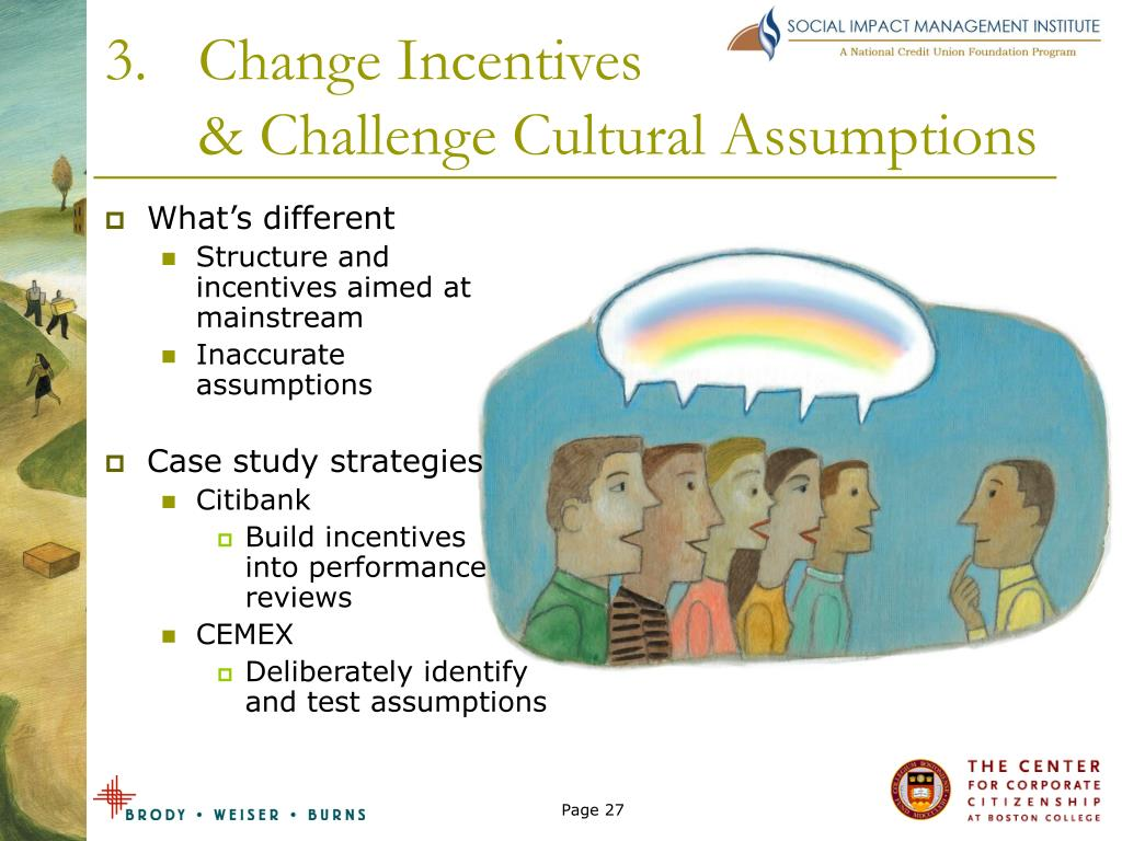 Change Incentives