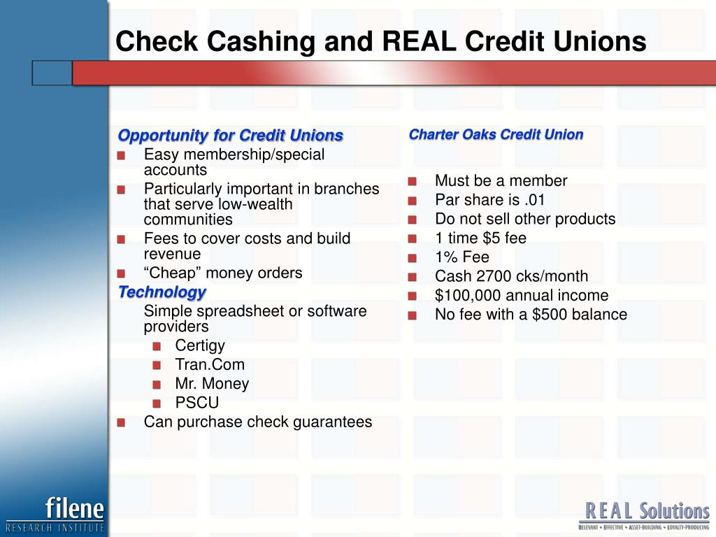 Opportunity for Credit Unions