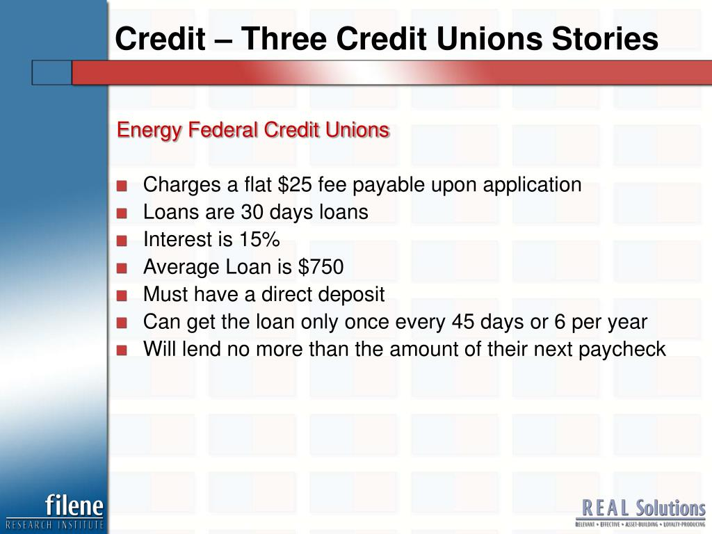 Credit – Three Credit Unions Stories