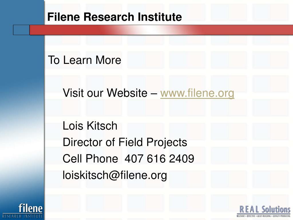 Filene Research Institute