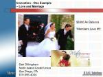 innovation one example love and marriage