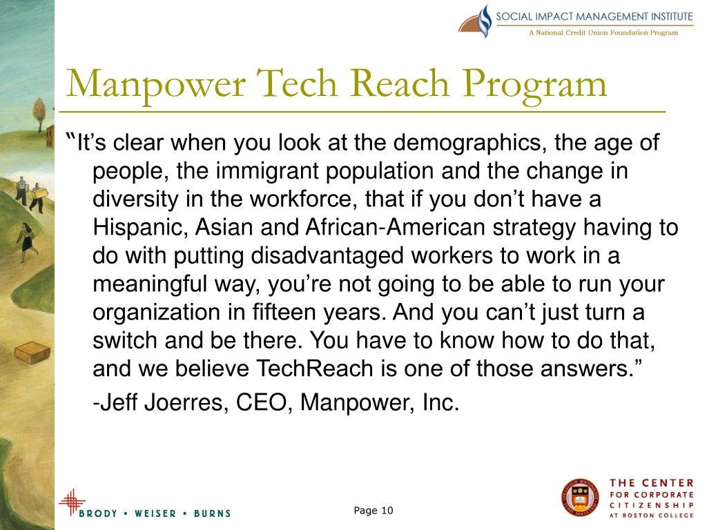 Manpower Tech Reach Program