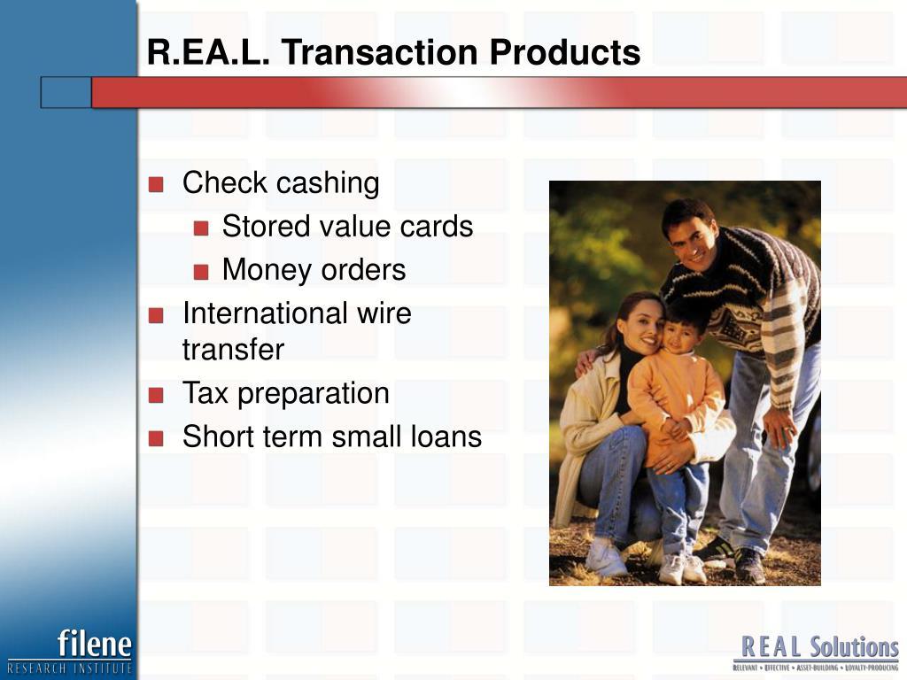 R.EA.L. Transaction Products