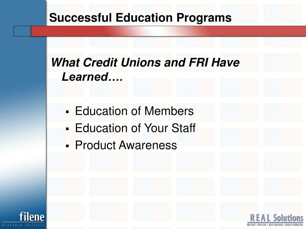 Successful Education Programs