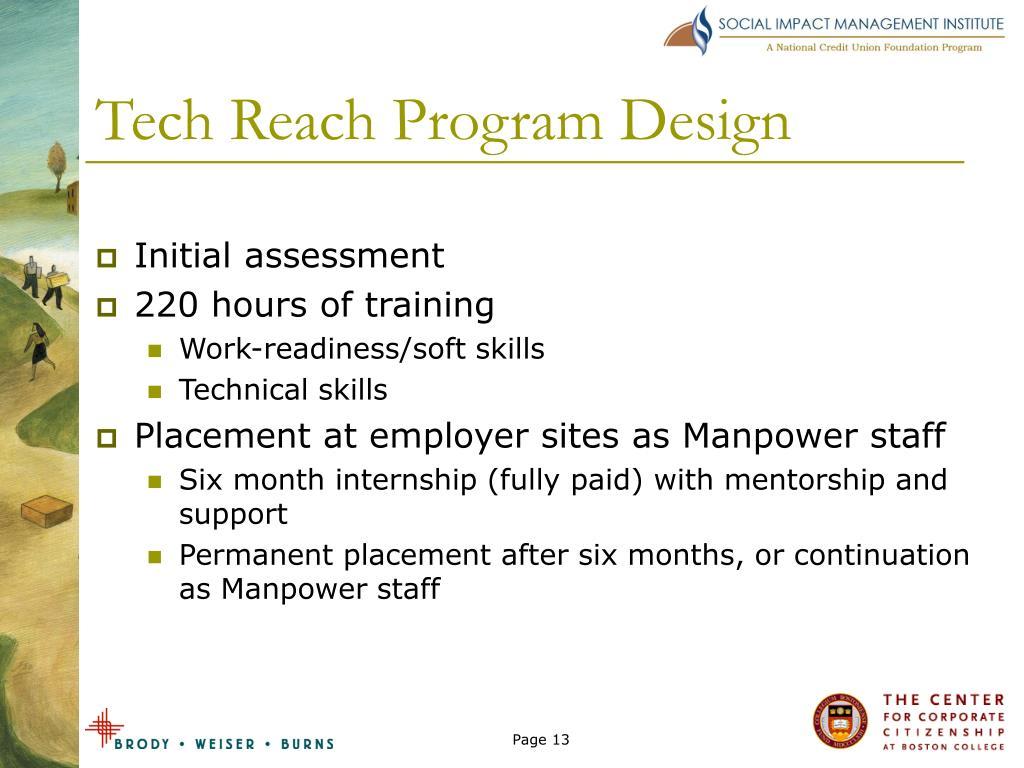 Tech Reach Program Design