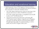 education and vocational training