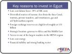 key reasons to invest in egypt