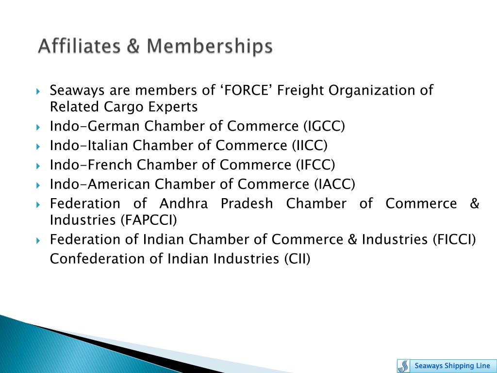 Seaways are members of 'FORCE' Freight Organization of Related Cargo Experts