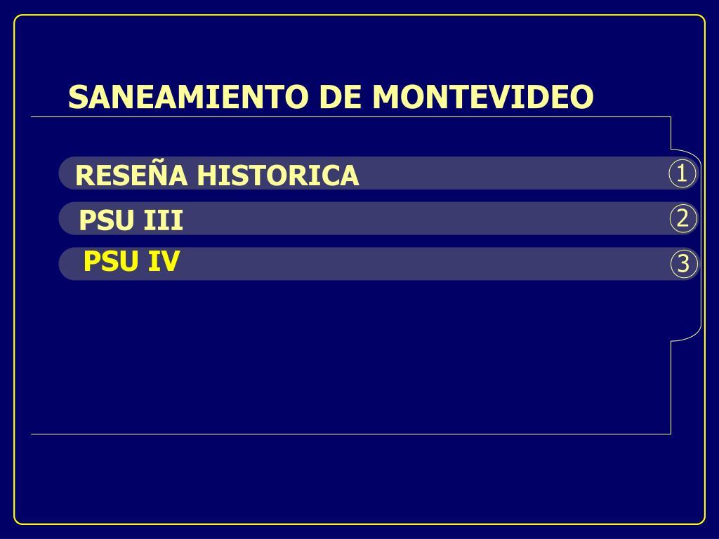 SANEAMIENTO DE MONTEVIDEO