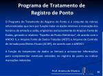 programa de tratamento de registro de ponto