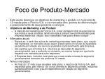 foco de produto mercado