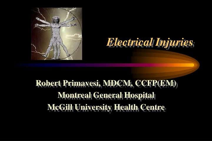 electrical injuries n.