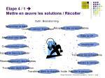 etape 4 1 mettre en uvre les solutions r colter