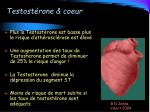 testost rone coeur
