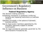 government s regulatory influence on business16